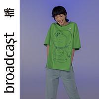 播2020夏季哆啦A梦联名限定新款短袖亲亲T恤女BDN7YD365Doraemon