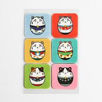 韩国原产summerpatch卡通驱蚊贴防蚊贴多彩瓷娃娃18枚