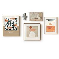 客厅组合装饰画日式沙发墙面背景壁画北欧小众免打孔喷绘餐厅挂画