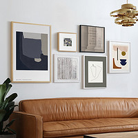 北欧客厅沙发背景墙装饰画轻奢小众复古餐厅挂画欧式艺术组合壁画