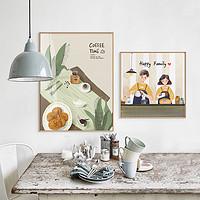 北欧风格餐厅装饰画现代简约饭厅厨房挂画餐桌背景墙挂画
