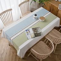 北欧桌布布艺棉麻小清新餐桌布家用长方形茶几防水台布网红ins风