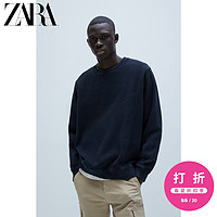 ZARA【打折】男装水洗纹理宽松落肩运动衫卫衣07446375401