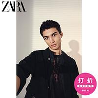 ZARA新款男装莱赛尔工装夹克外套05252453800