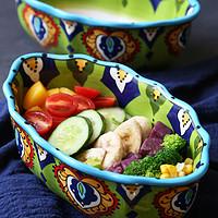 欧美客创意陶瓷碗沙拉碗甜品碗家用异形碗欧式餐具大号水果碗