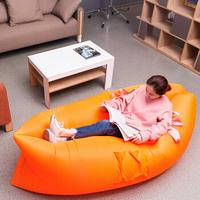 尖叫设计Humanace户外懒人空气沙发床便携可照明充气床口袋空气睡袋单人沙滩沙发蓝色标准款