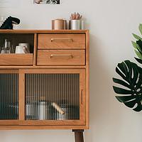 浮生记/餐边柜北欧樱桃木实木收纳柜白橡木简约设计储物柜茶水柜