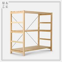 现代简约日式原木色置物架组合架无印良品实木MUJI组合松木架子