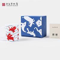 上海博物馆瑞兽创意马克杯设计师联名骨瓷杯子学生礼物送女友