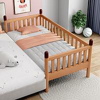 实木儿童床带护栏婴儿小床拼接大床男女孩单人床边榉木宝宝婴儿床