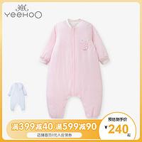 英氏男女宝宝睡袋加厚款婴儿防踢被夹棉分腿175636175632