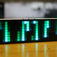 Awtrix像素时钟DIY套件椴木板外壳网红灯电子表支持智能家居
