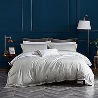 100支长绒棉缎纹床单被套床上用品全棉四件套