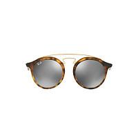 雷朋rayban眼镜圆形彩膜防晒太阳镜男女款墨镜0RB4256F