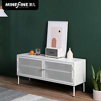 麦凡越南进口电视柜铁艺储物柜现代简约白色电视柜北欧创意矮柜子