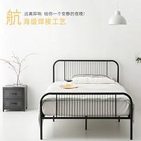 北欧铁艺床双人床1.5米简约现代铁床ins网红单人公主床1米2铁架床