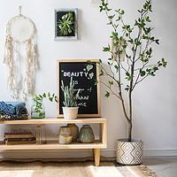 仿真山茶树装饰大型盆景地面摆件绿植中式北欧日式礼物