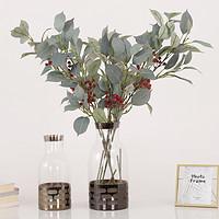 泰环仿真红唇叶单支绿植假花带果叶子家居客厅民宿餐桌装饰摆件