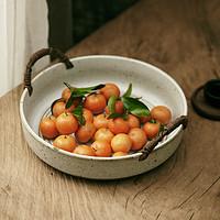李子柒同款复古水果盘面包篮红烧肉炖菜大碗粗陶日式提篮盘沙拉碗
