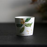 山水间桂花枇杷手绘杯景德镇陶瓷茶杯家用水杯女男文艺复古餐具小