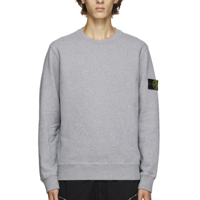 Stone Island: 灰色圆领套头衫|SSENSE