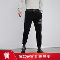 【抽绳设计】男士中腰舒适松紧腰加厚休闲裤