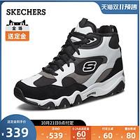 Skechers斯凯奇复古厚底熊猫鞋老爹鞋保暖绒毛运动篮球鞋男999324
