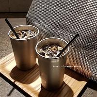 Ins韩国网红餐厅冰美式咖啡杯冷饮杯果汁杯个性柠檬玻璃杯