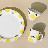日式创意个性餐具水果小清新餐盘饭碗小碗马克杯柠檬系列家用瓷