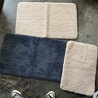 外贸尾单素色纯色脚垫厚实卫生间门口防滑脚垫简约简单