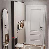 意式轻奢超薄鞋柜到顶家用门口省空间玄关柜换鞋凳一体靠墙门厅柜