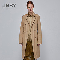 JNBY/江南布衣秋新品长款气质收腰英伦风衣外套女5IB221150