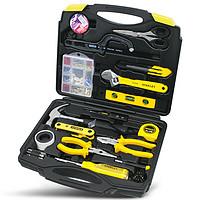 史丹利五金工具箱套装电工专用维修家用多功能常用组合电钻套装#