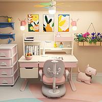 爱果乐儿童学习桌小学生书桌实木写字桌椅套装可升降课桌椅家用