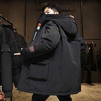 羽绒服男士2020年新款中长款冬季外套加厚保暖休闲舒适冬装