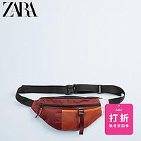 ZARA【打折】男包橙色运动款时尚休闲腰包斜挎包13506520070