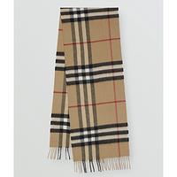 经典格纹羊绒围巾