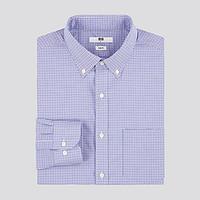 男装精纺弹力修身格子衬衫(长袖)432150