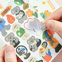 动物朋友平张贴纸可爱韩国不干胶贴兔子小熊手账装饰DIY拼贴贴画