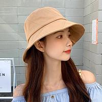 帽子女防晒遮阳帽甜美可爱日系小兔字母渔夫帽