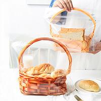 吐司袋面包袋450g透明手提篮子自封土司面包袋子烘焙食品包装袋