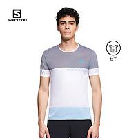 salomon萨洛蒙男子户外速干能量T恤夏季新款跑步短袖SENSETEEM