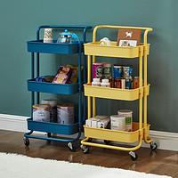 新款美容院置物架卫浴小推车移动简易厨房整理架子客厅收纳手推车-阿里巴巴