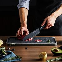专利氧化发黑技术,抗菌不生锈黑刃厨刀