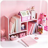 木质书桌收纳置物架简易桌面上收纳架儿童卧室创意飘窗床头书架