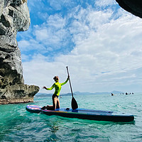 【SUP桨板探洞】小众网红打卡三亚小东海溶洞探险悬崖跳水冲浪