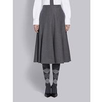 女士 羊毛荷叶伞裙