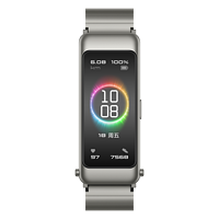 Huawei/华为B6彩屏全触控智能手环蓝牙耳机运动跑步计步器商务通话手表睡眠心率监测男女士尊享款-钛银灰