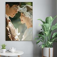世纪开元洗照片定制冲印水晶版画创意摆台相框婚纱照放大亮面20英寸【支付后到订单页传照片】