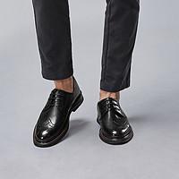 【头层真皮】21春季新款德比复古系带皮鞋简约商务皮鞋皮男鞋